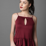 Strappy Ruffled Top - WhySoBlue