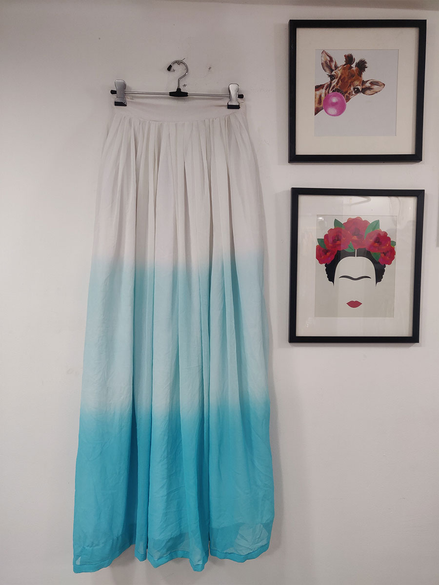 Blue gradient skirt