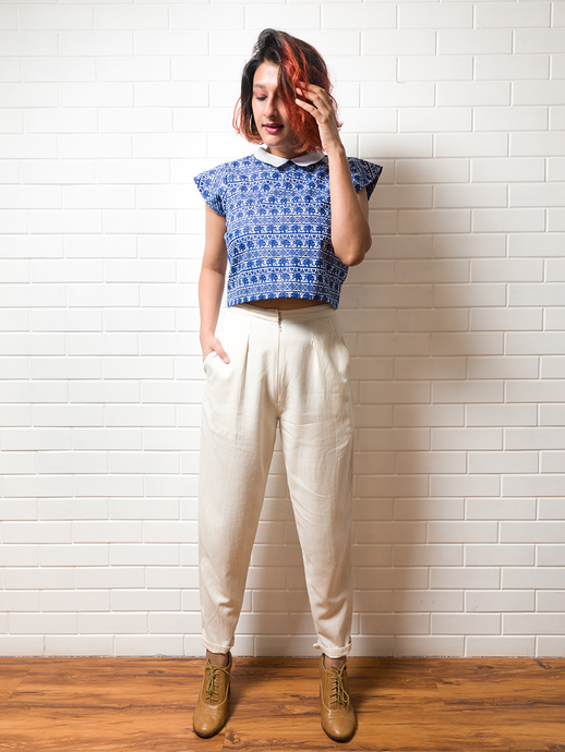 Coffee run Linen Pants - WhySoBlue