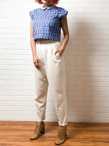 Coffee Run pants and Blue Top - WhySoBlue