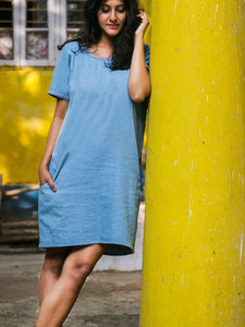 Denim Box Dress - WhySoBlue