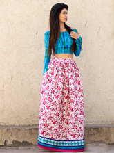 Pink Floral Skirt And Blue Top - WhySoBlue