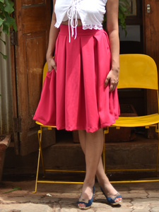 Pink Box pleat skirt