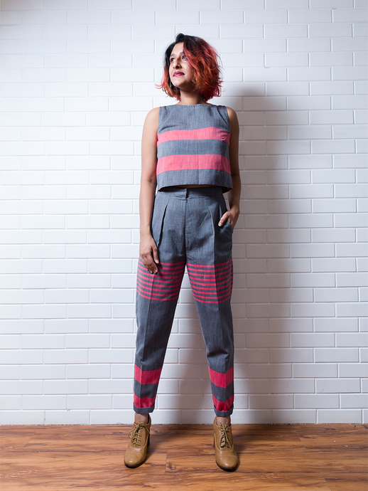 Salmon and Slate Trousers - WhySoBlue