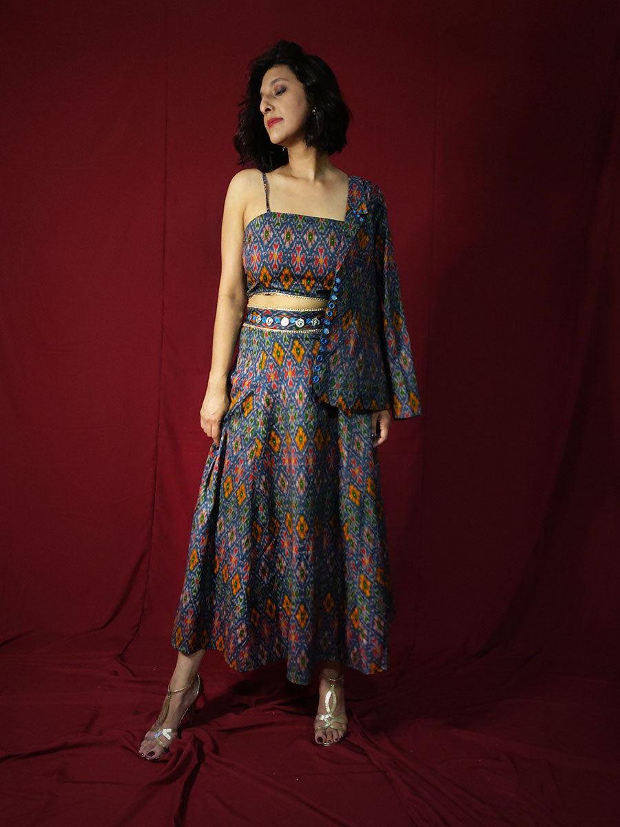 Maya Ikat Skirt-top Set