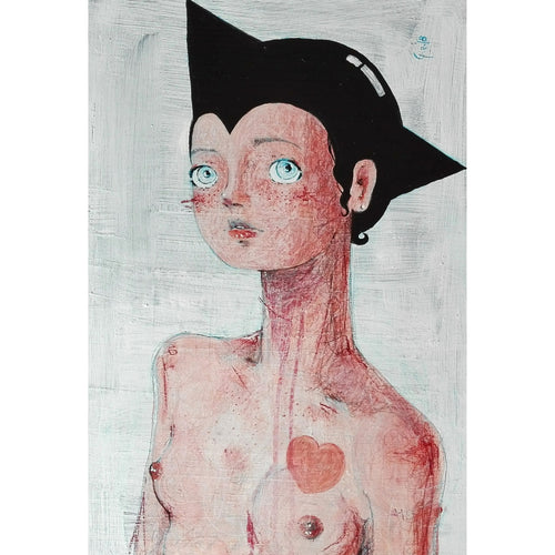 Astro Boy Cosplay dipinto ad acrilic e pastelli su carta painting acrilic and pastels on paper Diego Gabriele