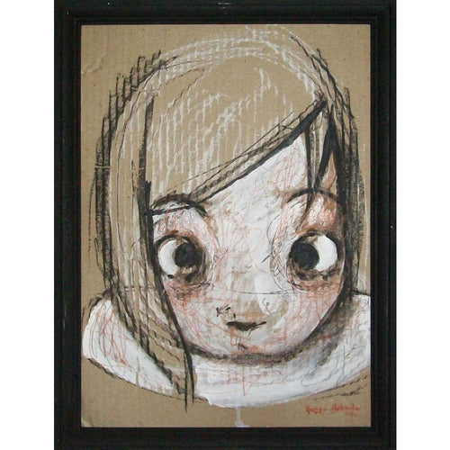 Girl portrait Italian Painting -