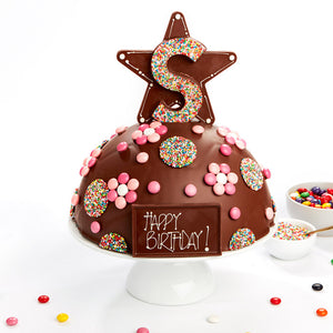 Chocolate Smash Cakes Melbourne handmade to order with couverture chocolate and quality lollies