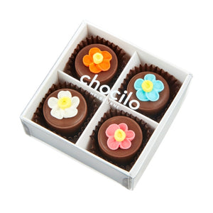 Chocilo Melbourne Mothers Day Gift Milk Couverture Chocolate Hazelnut Praline Flower Pot