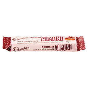 Chocolatier Australia Milk Chocolate Almond Bar 40g Made in Melbourne