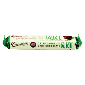 Chocolatier Australia 70% Cocoa Dark Chocolate Mint Bar 40g Made in Melbourne