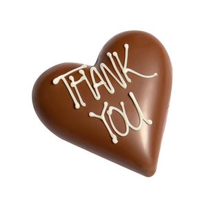 """THANK YOU"" Milk Chocolate Hazelnut Praline Filled Heart - 30g"