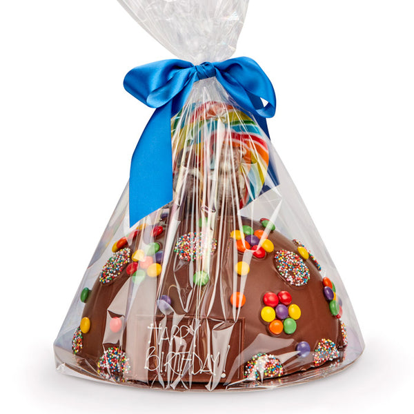Chocilo Melbourne Large Chocolate Happy Birthday Smash Pinata Cake Lollies Large wrapped