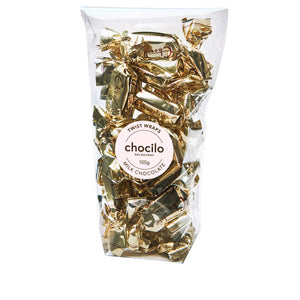 1014 - Chocilo - 105g Milk Chocolate Twist Wraps Gift Bag