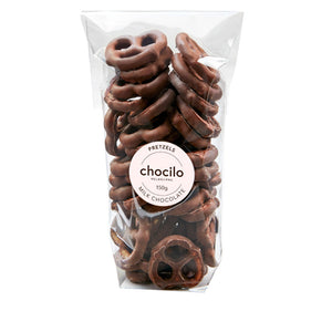 1036 - Chocilo - 250g Milk Chocolate Coated Pretzels Gift Bag