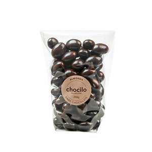 1002 - Chocilo - 250g Dark Chocolate Coated Almonds Gift Bag
