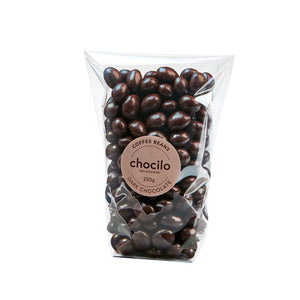 1013 - Chocilo - 250g Dark Chocolate Coated Coffee Beans Gift Bag