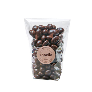 1023 - Chocilo - 250g Dark Chocolate Coated Peanuts Gift Bag