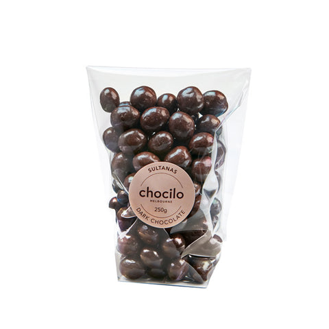 1044 - Chocilo - 250g Dark Chocolate Coated Sultanas Gift Bag