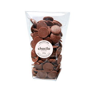 1071 - Chocilo - 250g Couverture Milk Chocolate Buttons Bag