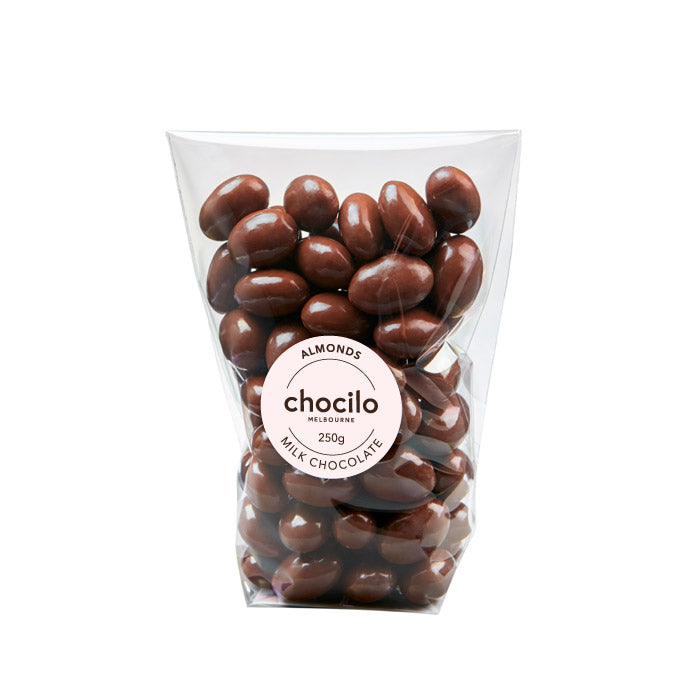 1001 - Chocilo - 250g Milk Chocolate Coated Almonds Gift Bag