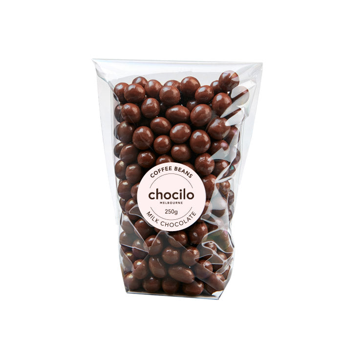 1047 - Chocilo - 250g Milk Chocolate Coated Coffee Beans Gift Bag