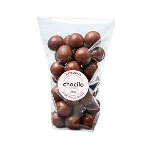 1004 - Chocilo - 250g Milk Chocolate Coated Hazelnuts Gift Bag