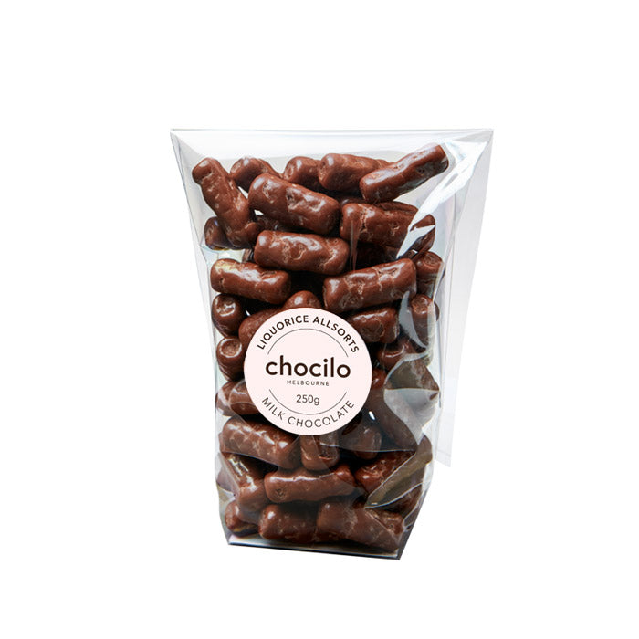 1021 - Chocilo - 250g Milk Chocolate Coated Bullets Gift Bag