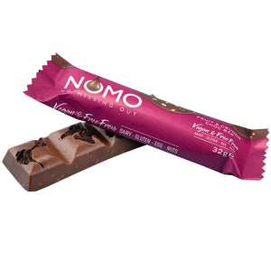 NOMO - No Missing Out Vegan Milk Fruit & CrunchChocolate & Free from Dairy, Gluten, Egg & Nuts. Available in Melbourne, Australia.
