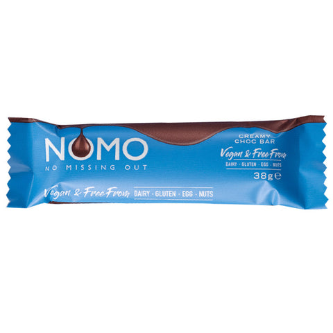 NOMO - No Missing Out Vegan Milk Chocolate & Free from Dairy, Gluten, Egg & Nuts. Available in Melbourne, Australia.