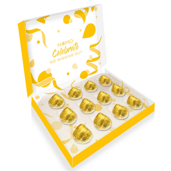 NOMO Caramel Filled Choc Drops Gift Box