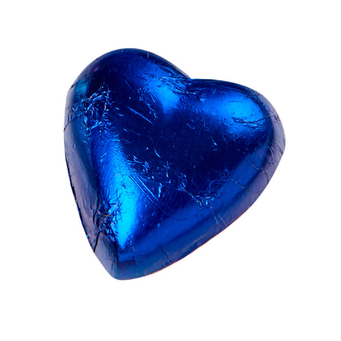 Chocilo Melbourne Coverture Milk Chocolate Foiled Heart Blue