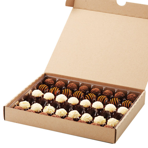 Chocolatier Australia 48 Assorted Milk, Dark & White Chocolate Truffles