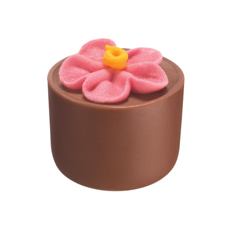 Chocilo Melbourne Milk Chocolate Hazelnut Praline Flower Pot Pink
