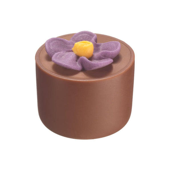 Chocilo Melbourne Milk Chocolate Hazelnut Praline Flower Pot Purple