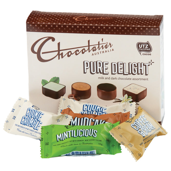 Chocolatier Australia Pure Delight Assorted Milk and Dark Chocolate Gift Box - 80g