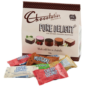 Chocolatier Australia Pure Delight Assorted Milk and Dark Chocolate Gift Box - 140gg