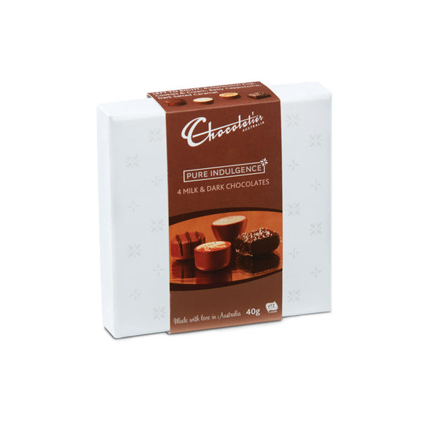 Chocolatier Australia Milk & Dark Chocolate Mini Treat Box - 40g Made in Melbourne