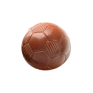 Chocilo Melbourne Solid Milk Chocolate Soccer Ball. Perfect for sporting events and functions.