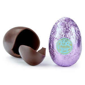 100g Chocolatier Australia Dark Chocolate Easter Egg Pastel Purple Foil