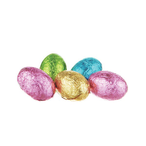 SE52 - Chocilo Melbourne 7.5g Milk Chocolate Foiled Egg (assorted colours)
