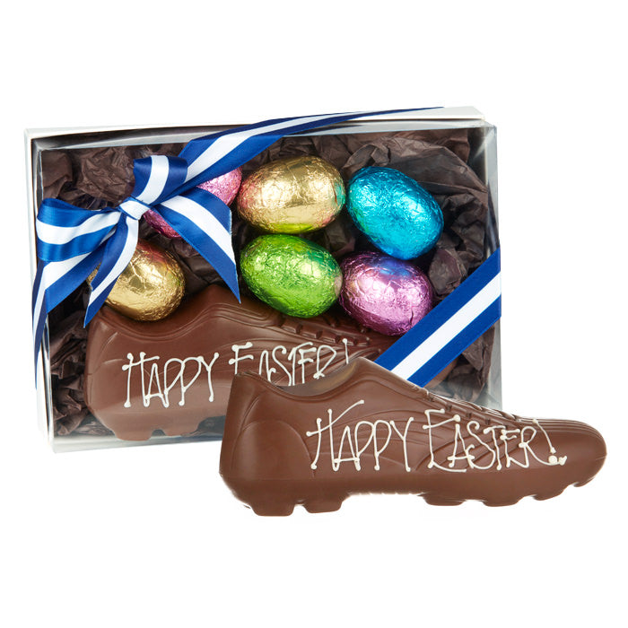 180g Chocilo Melbourne Football Boot & Easter Eggs Milk Chocolate (team colours)