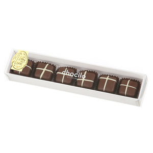 75g Chocilo Melbourne 6 Pack Easter Milk Chocolate Hot Cross Buns