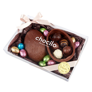 240g Chocilo Melbourne Milk Chocolate Half Eggs 10 Milk Mini Eggs with 5 Assorted Chocolate Truffles