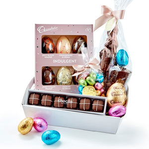 Chocilo Melbourne Chocolatier Australia Indulgent Chocolate Easter Egg and Rabbit Hamper