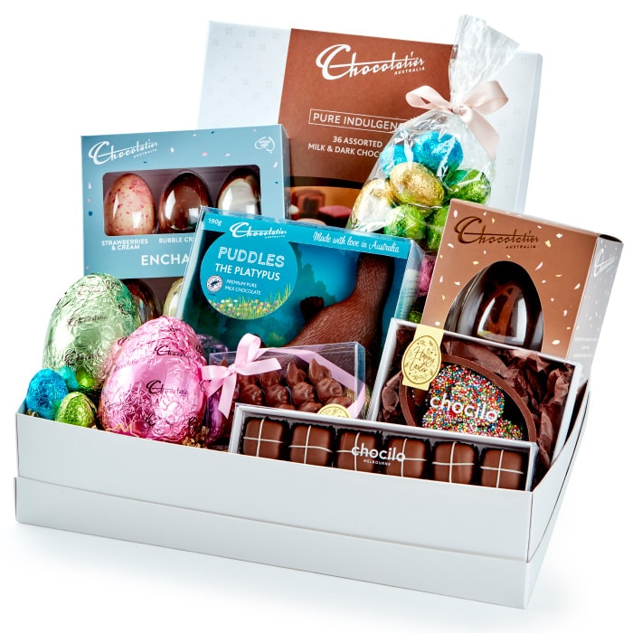Chocilo Melbourne Chocolatier Australia The Ultimate Easter Chocolate Hamper - Cello