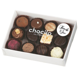 Chocilo Melbourne Thank You Gift 12 Pack Assorted Chocolates Made in Australia
