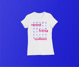 Nested Fcking Symbols - Slim Fit T-Shirt