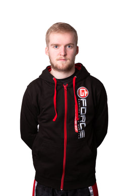 Adult Unisex Hoodie - Zip-Up Contrast