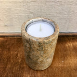 Fossilstone tealight holder (Cylindrical)